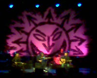 Crap shot of The Levellers on stage
