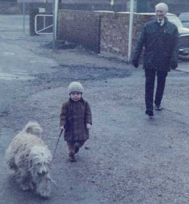 Grandad, me (aged about 4) and Sam