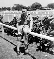 Grandad at what looks like a racecourse