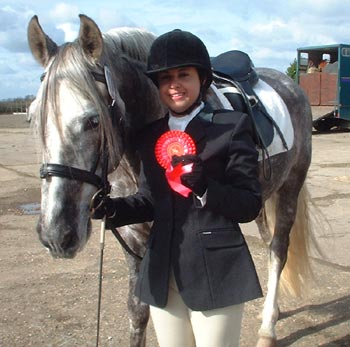 Nadia and Mo with their first rosette
