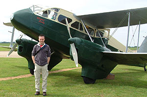 Me standing by the DH Rapide at Duxford