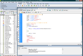 PHP development in Dreamweaver